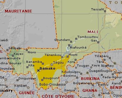 Carte de l'éthnie bambara