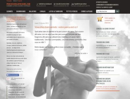 Percussion-africaine.com, djembé, djembés et percussions africaines